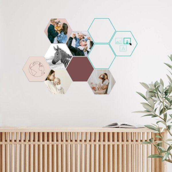 hexagon foto collage