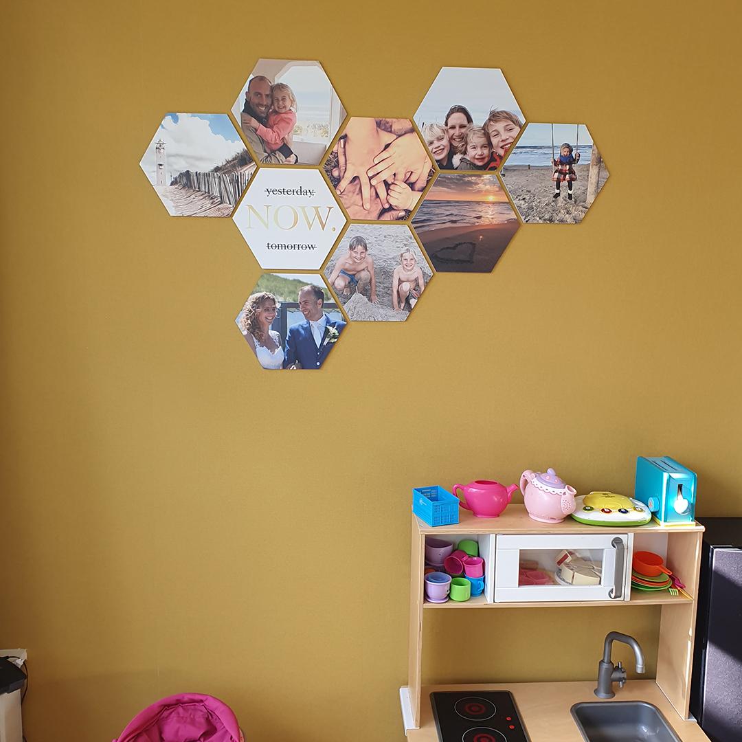 Hexagon fotomuur