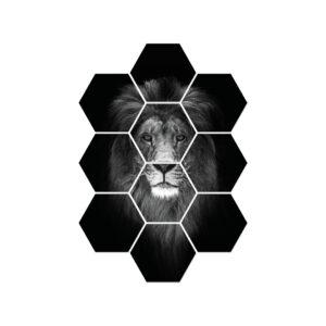 leeuw zwart wit poster wanddecoratie