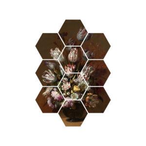 hexagons-bloemen-oude-meesters