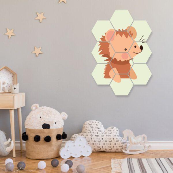 wanddecoratie hexagon foto kinderkamer